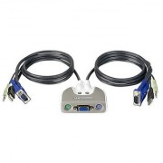 IOGEAR MiniView Micro USB Audio KVM Switch with Cables GCS712U
