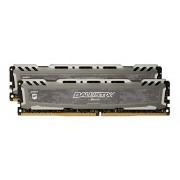 Ballistix Sport LT 8Go Kit (4Gox2) DDR4 2400 MT/s (PC4-19200) DIMM 288-Pin Memory - BLS2C4G4D240FSB (Grey)