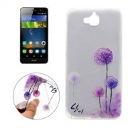 For Huawei Y6 Pro Dandelion Pattern Transparent Soft TPU Protective Back Cover Case