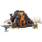 Vulkaan met T-Rex