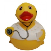 Rubber Ducks Family Dr. Rubber Duck, Waddlers Brand Toy Bathtub Rubber Ducks That Squeak, Health & P