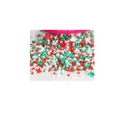 Perline in zucchero Bianco Verde Rosso Decora 100g
