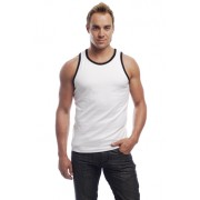 Go Softwear California Colors Cotton Lycra Tank Top T Shirt White/Black 2005