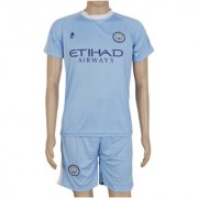 RetailWorld Round Neck Blue Printed Football Club Suit (Combo Of T-Shirt Shorts)