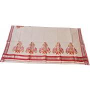 Kerala Special Embroidery Kasavu Saree