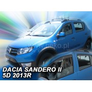 Deflektory komplet 4 ks - Dacia Sandero, 2013-