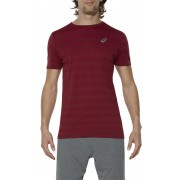 asics fuzeX Seamless Tee Men Pomegranate Trail Running Bekleidung