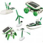 6 In 1 Educational Solar Kit Energy Robot Built Your Own Science Crestive Diy Toy