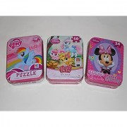 My Little Pony Palace Pets & Minnie Mouse Bowtiique 50 Piece Puzzles in Tins - Bundle of Three