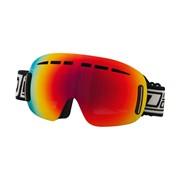 FRAMELESS Ski Goggles: Dirty Dog 'YETI' Ski/Snowboard Goggles - Red Fusion Lens
