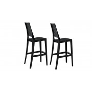 Lot de 2 tabourets ou chaise haute design, assise 74 cm - Lenda