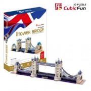 Free Shipping!Diy 3d Puzzle Paper Model Tower Bridge 120pcs Home/Office Decoration