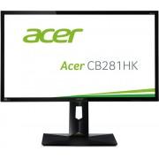"Acer CB281HKbmjdprx, 28"" Wide TN LED Anti-Glare, FreeSync, 1ms, 100M:1 DCR, 300 cd/m2, 3840x2160 4K2K UHD, DVI, HDMI, DP, Speakers, Height Adjustable, Pivot, Swivel, Black"