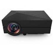 GM60 Projector Portable LED Multimedia 1000 Lumens 800x480p Optical Keystone USB/AV/SD/HDMI/VGA Interface for Entertainment Home Cinema Theater Video Games Movie-black
