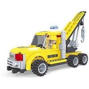Ausini Construction Work Crane Truck with Action Figures Building Bricks 145pc Educational Blocks Set Compatible To Lego