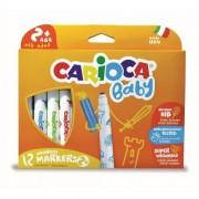 Carioca super lavabila, 12 culori/cutie, CARIOCA Baby 2