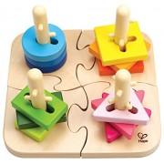 Hape - E0411 - Puzzle En Bois - Boutons Créatif