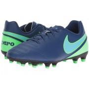 Nike Jr Tiempo Rio III FG-R Soccer (Little KidBig Kid) Coastal BlueRage GreenPolarized Blue