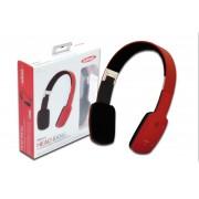 EDNET 83133 :: HEAD BANG Bluetooth слушалки с вграден микрофон, червено-черни