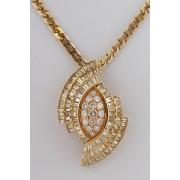 Zlatý přívěšek s diamanty 5,1 ct