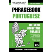 English-Portuguese Phrasebook and 1500-Word Dictionary by Andrey Taranov