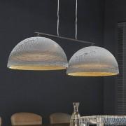 LUMZ Lamp met twee ronde kartonnen kappen