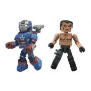 Diamond Select Toys Series 49 Marvel Minimates Iron Man 3 Iron Patriot and Extremis Action Figure