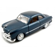 1949 Ford Coupe Diecast Car Model 1/24 Blue Motormax by Showcasts