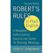 Robert's Rules In Plain English by Doris Zimmerman