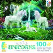 Unicorns Rainbow and Unicorn Family Jigsaw Puzzle