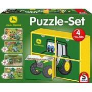 John Deere - Set 4 puzzles, 2 x 26 y 2 x 48 piezas (Schmidt Spiele GMBH PS56505)