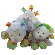 Taggies 3 Piece Baby Set By Mary Meyer: Sherbet The Lamb Soft Plush Animal, Lamb Lovey & Baby Blankie With Satin Lining: Taggies, Textures And Colors For Baby To Learn & Love: Great Baby Shower Gift!