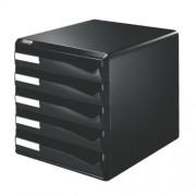 Leitz 52930095 - Cajonera para oficina (5 cajones, 291 x 352 x 291 mm), color negro