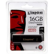 Kingston 16GB DataTraveler 4000 with 256-Bit FIPPS Encryption USB