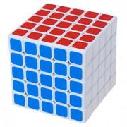 Shengshou Cube velocidade lisa 555 Velocidade Cubos Mágicos Preta / Branco ABS