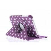 Paarse 360° draaibare hoes met polka dot design voor de Samsung Galaxy Tab 3 7.0