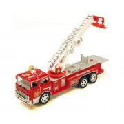 """12"""" Bump & Go Rescue Fire Engine Truck Kids Toy with Extending Ladder & Lights & Siren Sounds by Liberty Imports"""