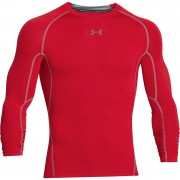Under Armour Men's Armour HeatGear Long Sleeve Compression Training Top - Red - L