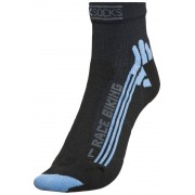 X-Socks Bike Racing Short Socks Women Black/Sky Blue 41/42 Radsocken