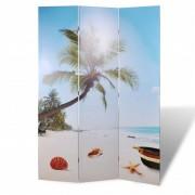 vidaXL Параван за стая с принт 120 х 180 см, мотив плаж