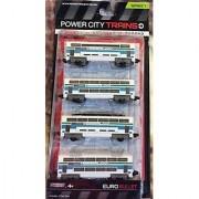 Jakks Pacific Power City Trains Euro Bullet 4 Train Cars - Series 7