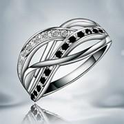 Anéis Pesta / Diário Jóias Cobre / Prata Chapeada Feminino Anéis Grossos 1pç,8 Prateado