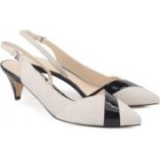 Nine West Women OFF WHITE/BLACK Heels