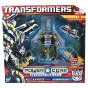 Transformers Power Core Combiners Series Robot Action Figure - BOMBSHOCK Commander with 4 Combaticons (Missile Carrier D