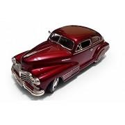 1948 Chevy Aerosedan Fleetline, Red - Motormax Premium American 73266 - 1/24 Scale Diecast Model Car