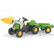 Tractor cu pedale și cupă Rolly Kid-X cu remorcă