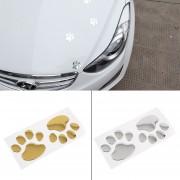ER Impresiones de la pata de la ventana del coche 3D Bumper Sticker Decal cuerpo animal del oso perro del pie.
