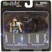 Aliens Rescue Mission Ripley & Attacking Alien MiniMates Figures NIP 2015