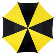 Umbrela Disco Black Yellow