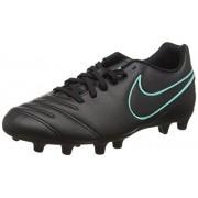Nike Tiempo Rio Iii FG, Botas de Fútbol para Hombre, Negro (Black / Black)